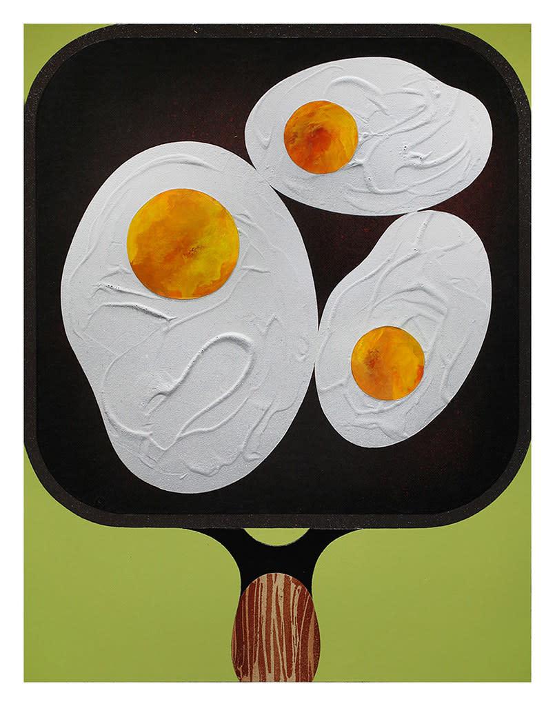 Casey Gray, Three Fried Eggs, 2017