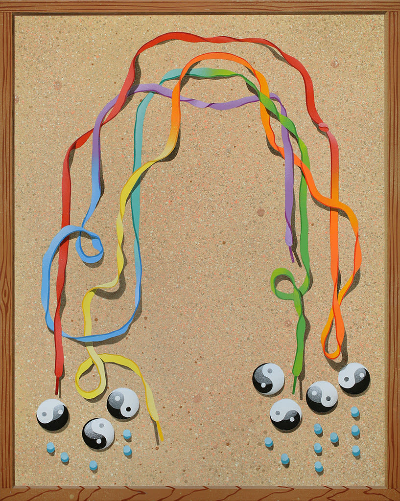 Casey Gray, Trompe l'oeil with Rainbow, 2016