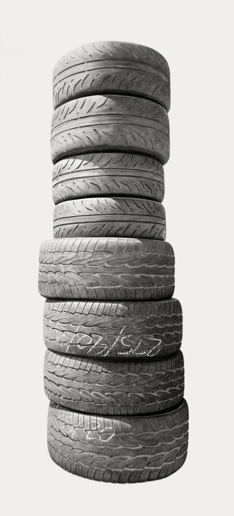 Joel Daniel Phillips, Neighborhood Still Life #4 (Tires), 2018