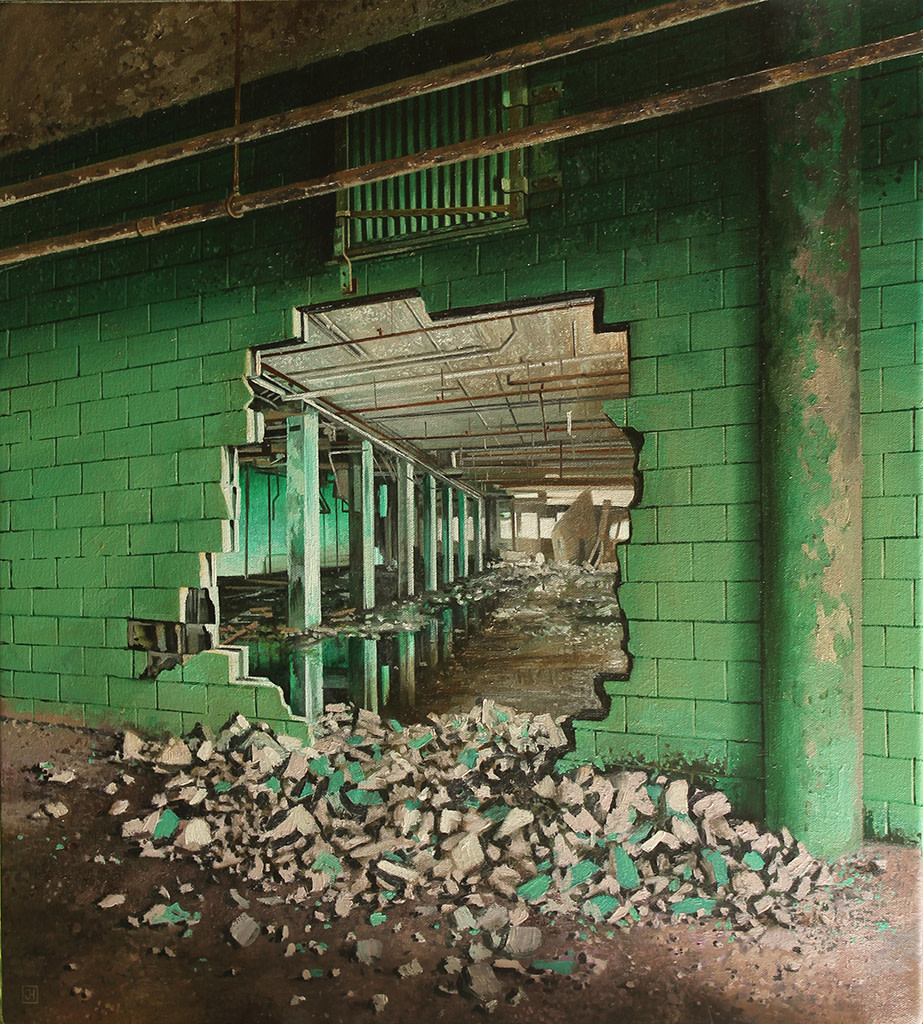 Jessica Hess, Green Crumbs, 2019