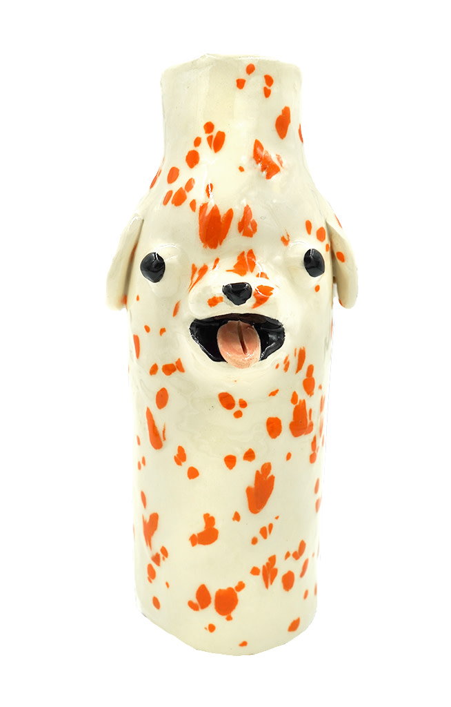 Katie Kimmel, Orange Dalmatian Vase, 2019