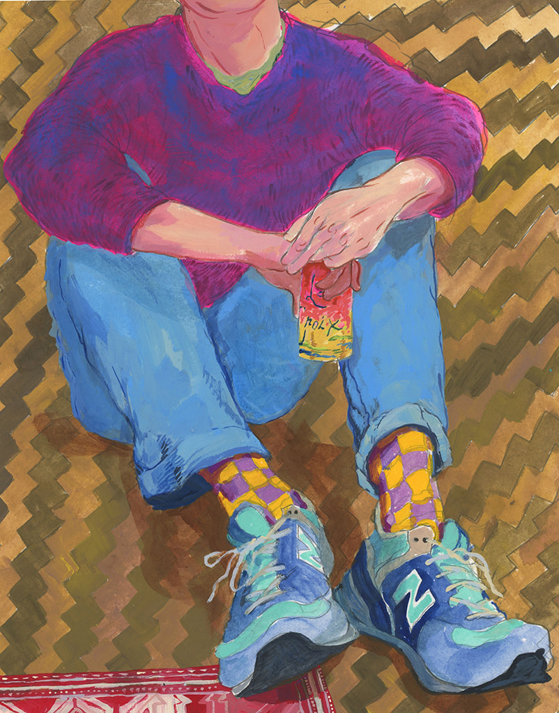 Rebecca Ness, Drinking La Croix on the Floor, 2019