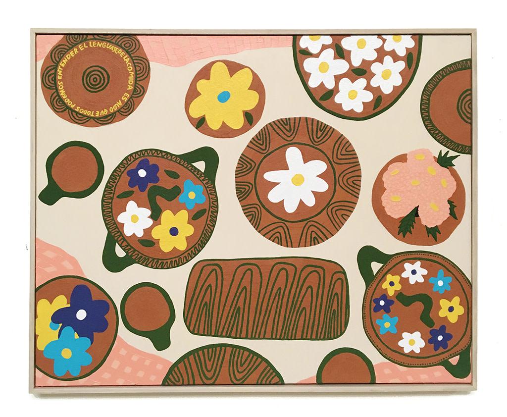 Liz Hernandez, El Lenguaje de la Comida (The Language of Food), 2019