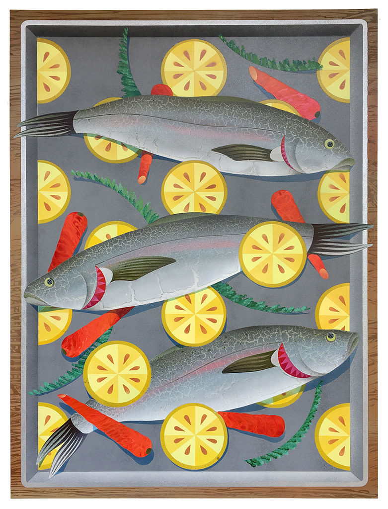 Casey Gray, Roasted Salmon with Lemon & Carrots, 2019