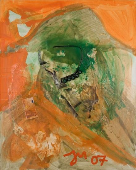 """<p><span class=""""artist""""><strong>Jonathan Meese</strong></span></p><p><span class=""""title""""><em>DE TIBETSOLDAT IM TIER</em>, 2007</span></p>"""