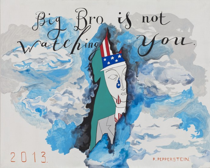 <p><b>Pavel Pepperstein</b><br /><i>Big Bro is not Watching You</i>, 2013</p>