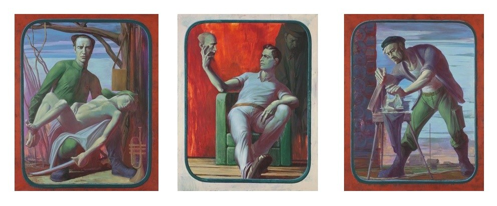<p>Soviet Arcadia (triptych), 2013</p><p>acrylic on canvas</p><p>190 &#215; 150 cm ( each part)</p>