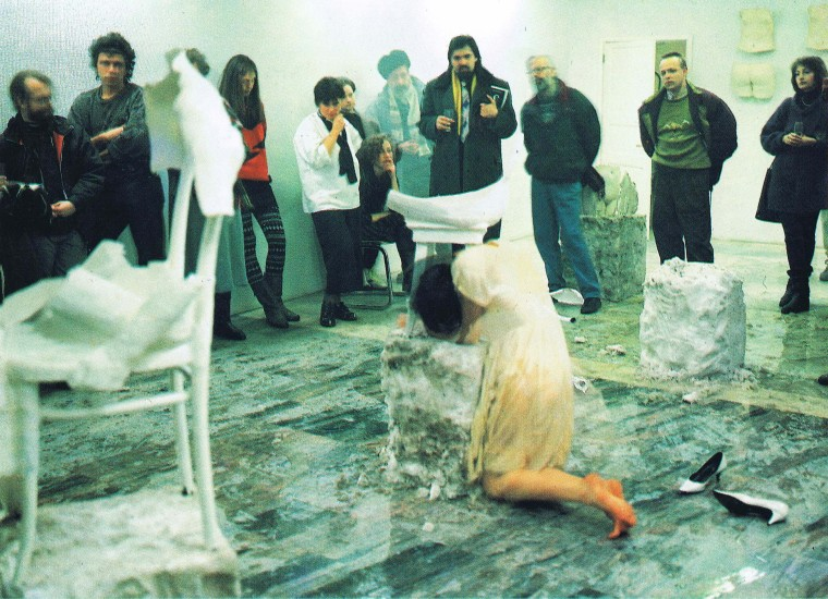 "<p>E. Kozlova</p><p> </p><p><em>""Pretending to be dead, the gesture and motion freeze immortalizing themselves in the plaster of the posthumous cast..."" (S. Kuskov), 1991</em></p><p> </p>"