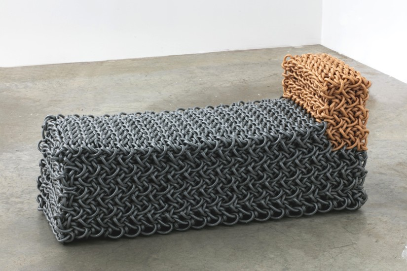 <p>Kwangho Lee<br /> <i>Chaise Lounge</i>, 2009<br /> knit rubber tubing</p>