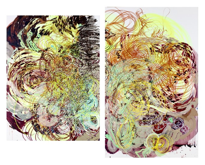 <p><strong>Vlad Kulkov</strong></p><p><em>Triune eidos sultanically immortalizes the estuaries in a mutually beneficial overturn (diptych)</em>, 2016</p>