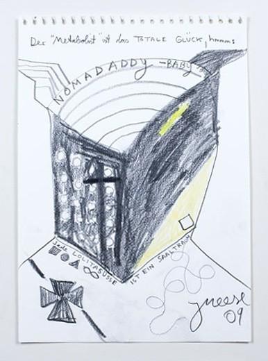"<p><b>Jonathan Meese</b><br /><i>""Fahrrad""</i><span>, 2009</span></p>"