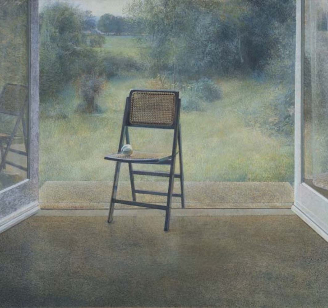 David Tindle RA Baltais Dzidrais, 1979 Egg tempera on board 72 x 121 cm