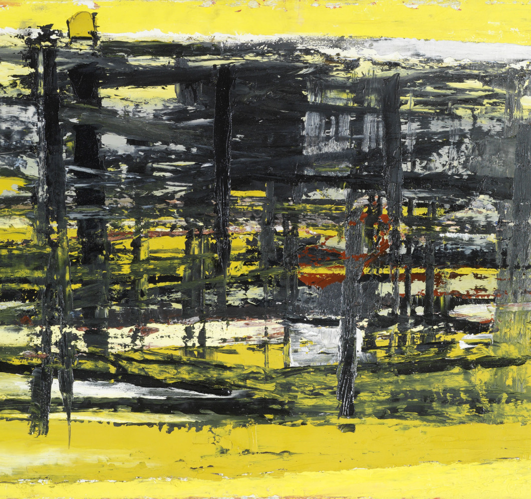 Paul Feiler January - Yellow and Black 1957 Private collection