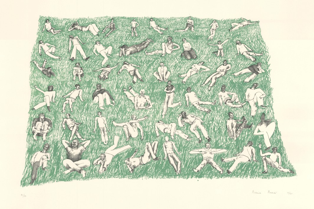Seated Crowd on Grass, 1965