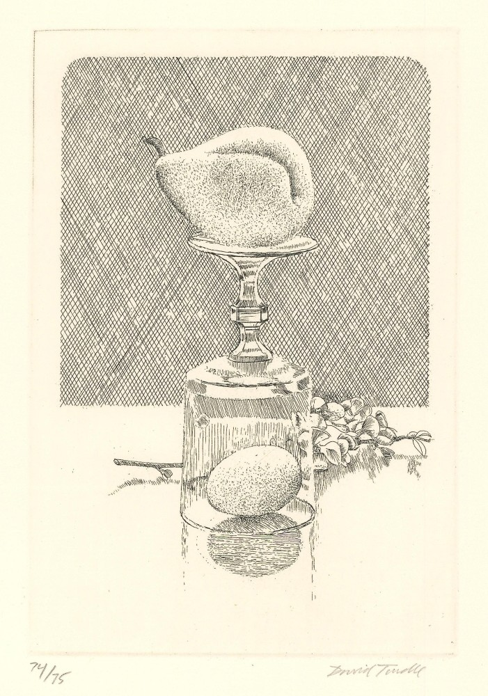 Pear on Upturned Glass, 1996