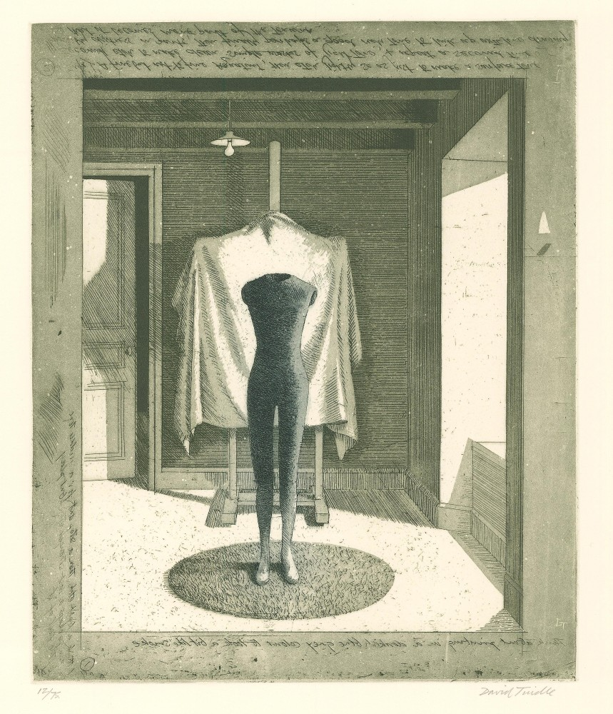 Mannequin with Covered Easel, 1996