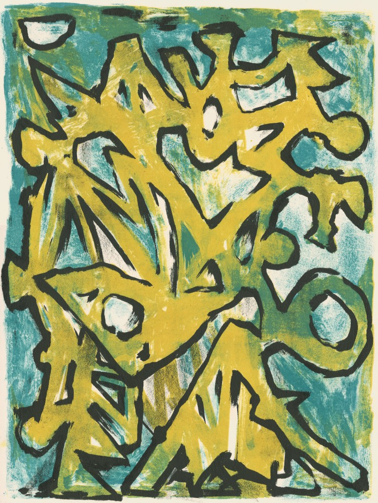 Yellow and Green Landscape, 1950
