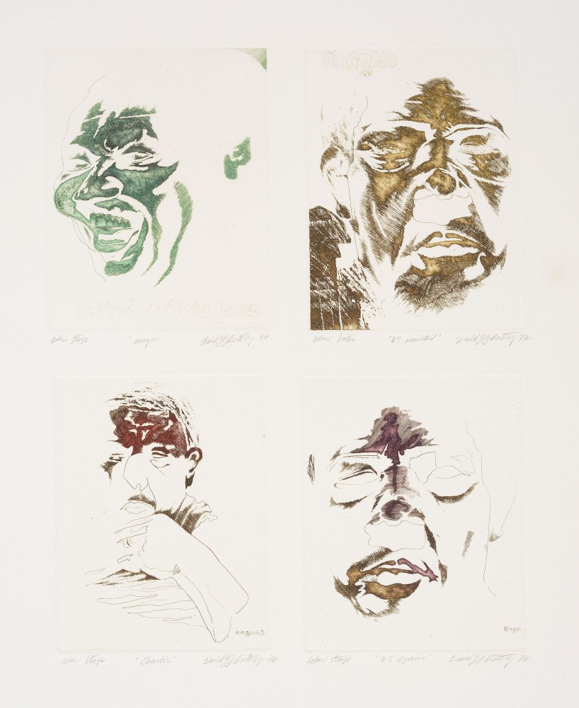 Four images of Charlie Mingus, 1974