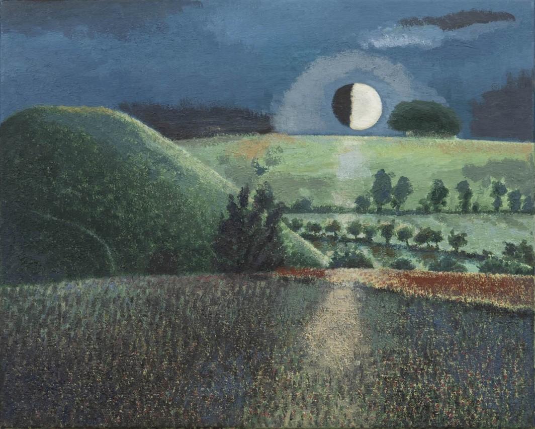 Silbury by Night, 1988, oil on canvas, 40 x 50 cm