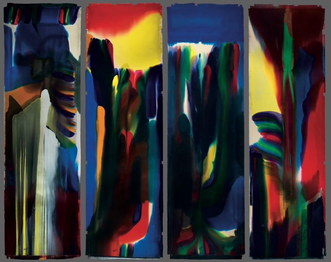 Paintings for Shaman to the Prism Seen, each 762 x 228.5 cm