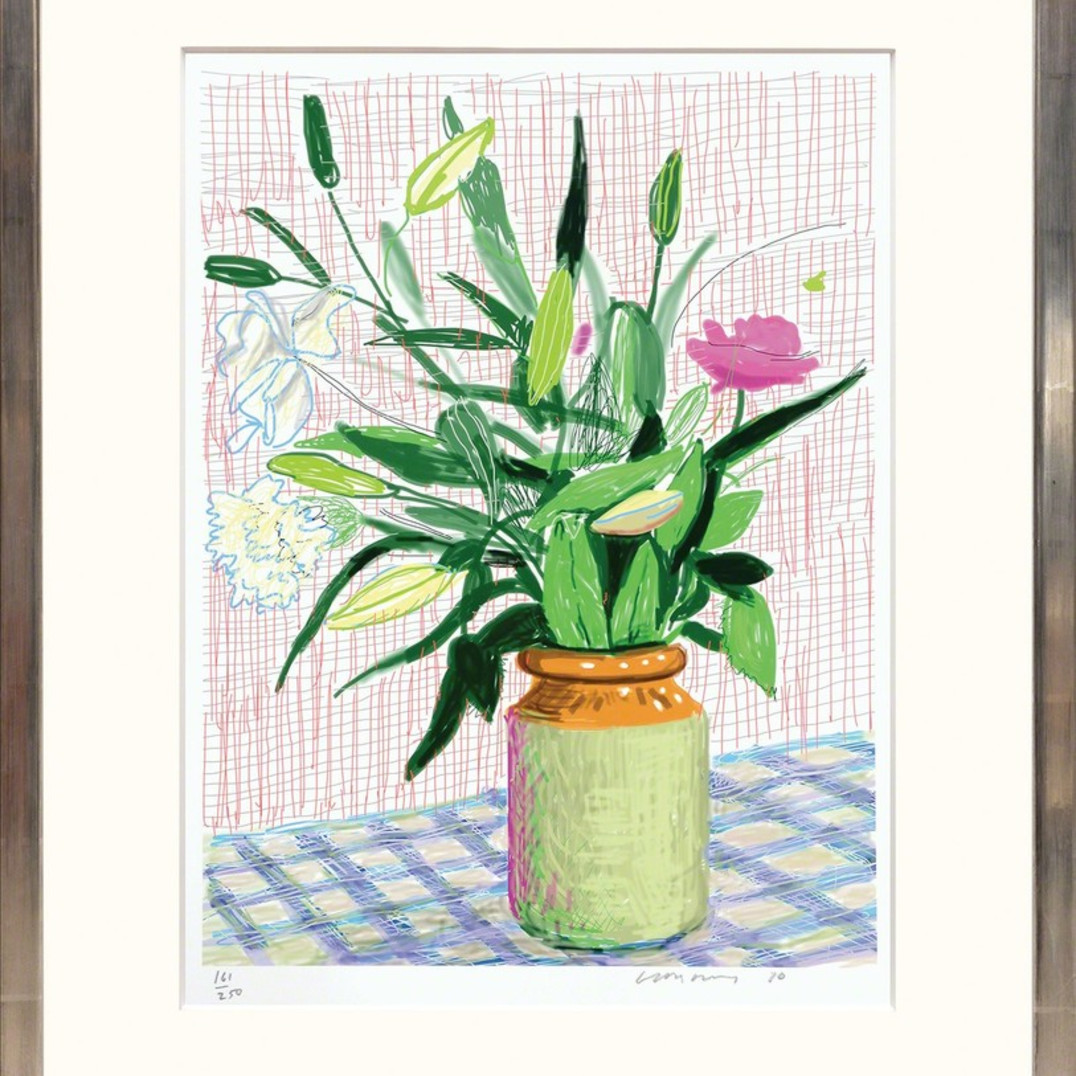 David Hockney, Untitled 516 [Lilies], 2016