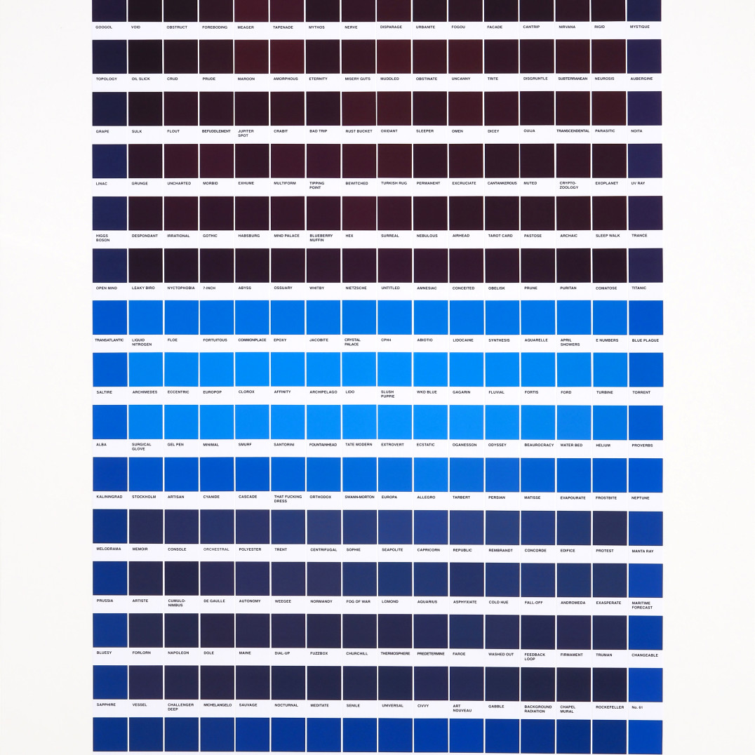 Nick Smith Blue Rust, 2020 256 XL chip collage on Crescent RagMat Museum board 140 x 97.1 cm 55 1/8 x 38 1/4 in Edition of 1 plus 1 artist's proof