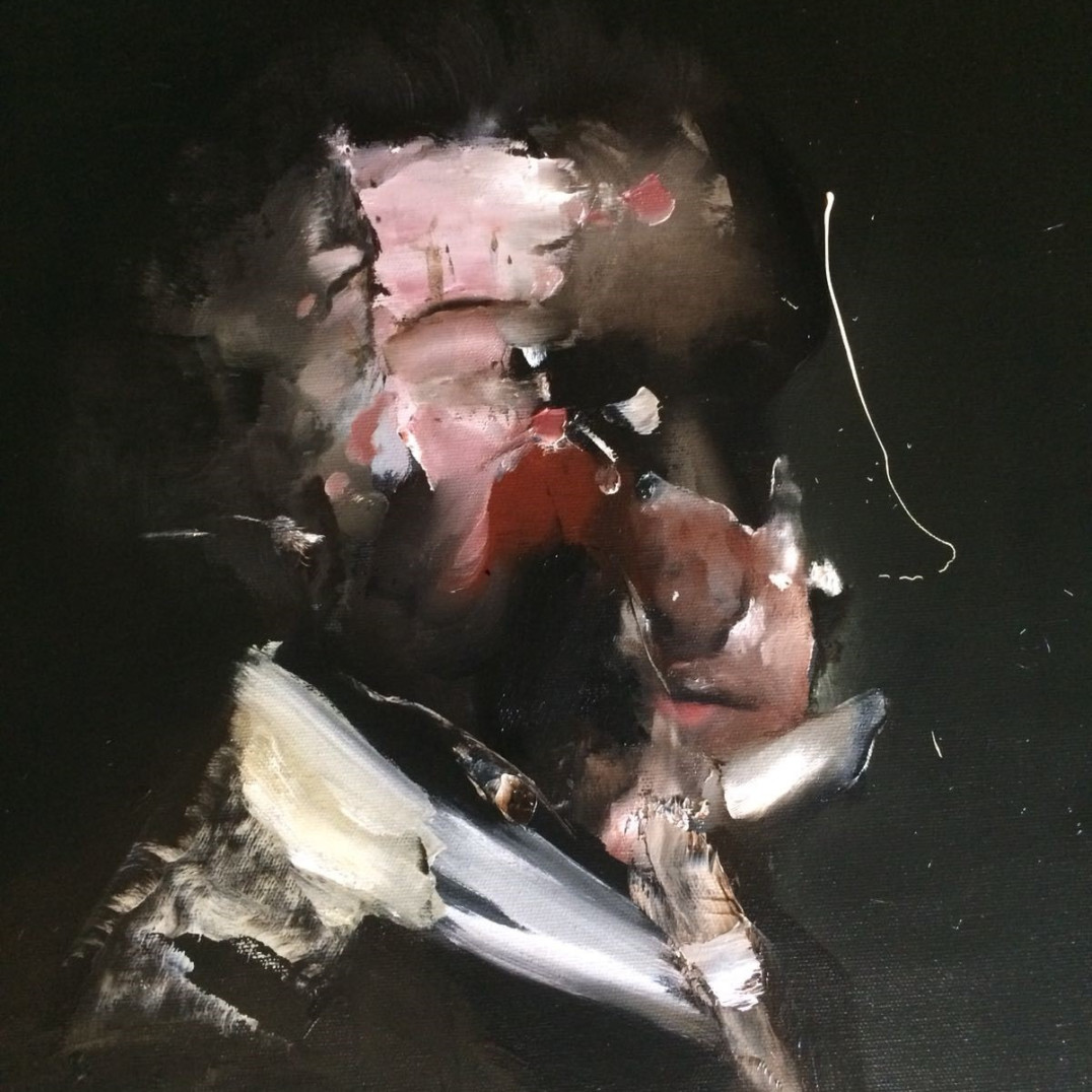 Florian Eymann  Nº 060618, 2018  Oil on Canvas  47 x 52cm  Unique  Signed, Verso