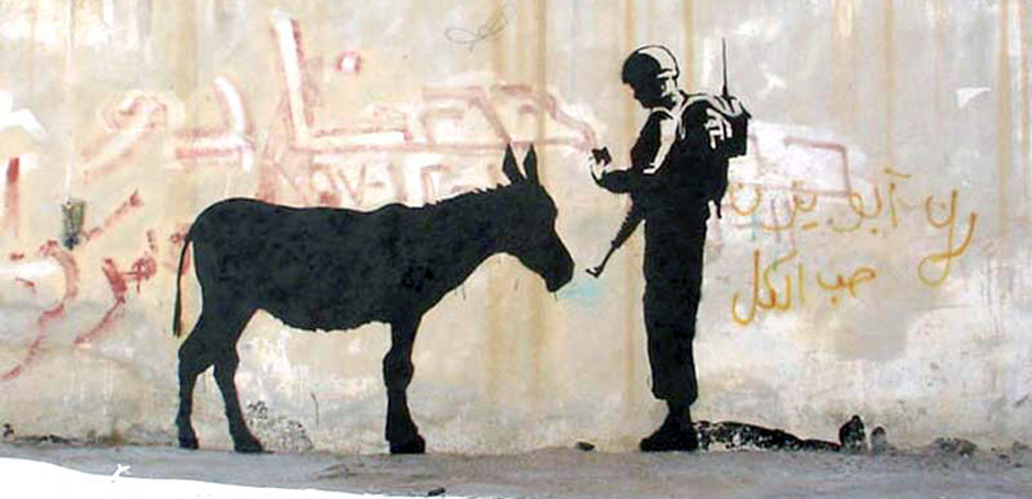 Banksy Mural On West Bank Expected To Fetch £400K At Auction