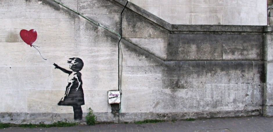 Banksy's Balloon Girl Voted The UK's Favourite Artwork
