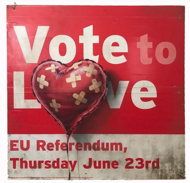 Vote to Love, Banksy. 2018.