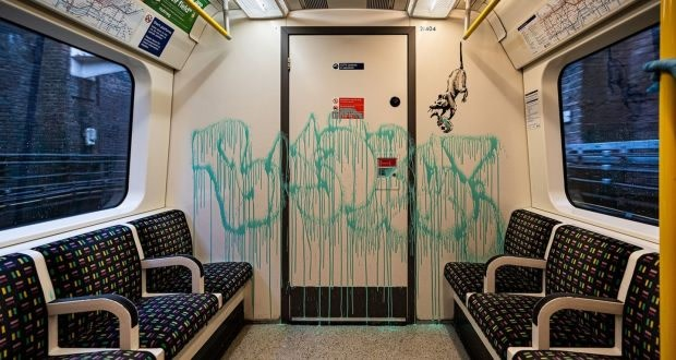 Banksy's Latest Work on the London Underground