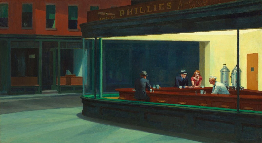 Nighthawks. Edward Hopper, 1942. Oil on canvas. Art Institute of Chicago, United States.