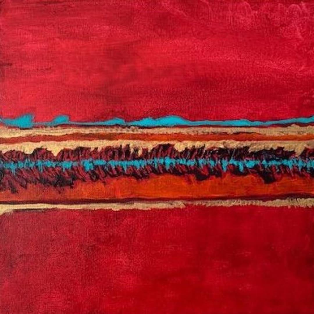 Camilla Webster, Kintsugi West Series- Where The Crimson Sun Seeks Rest (4 Of 6), 2019