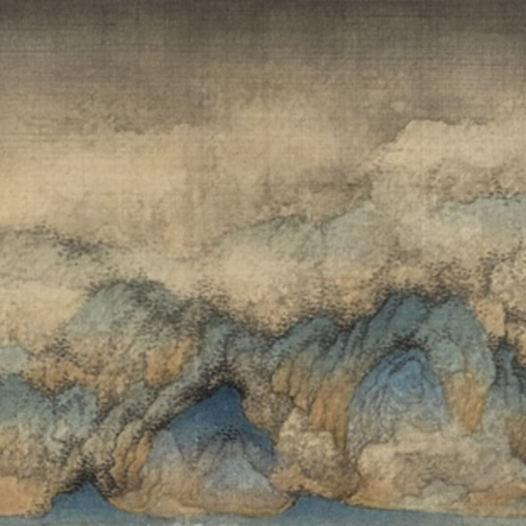 Wu Qiang 吳強, The smoke from scattered woods 疏林煙起, 2013