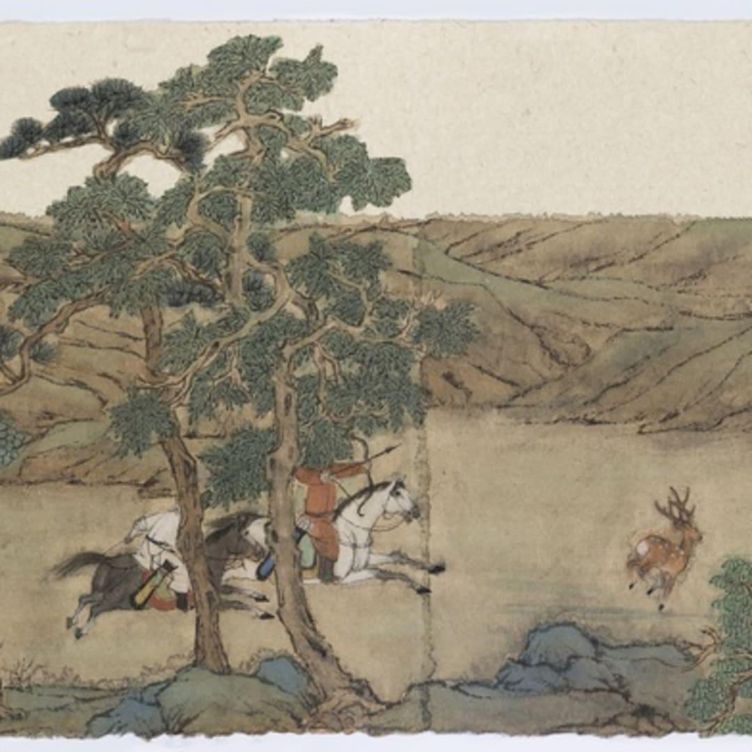 Peng Wei 彭薇, Purusing a Deer 逐鹿圖, 2015
