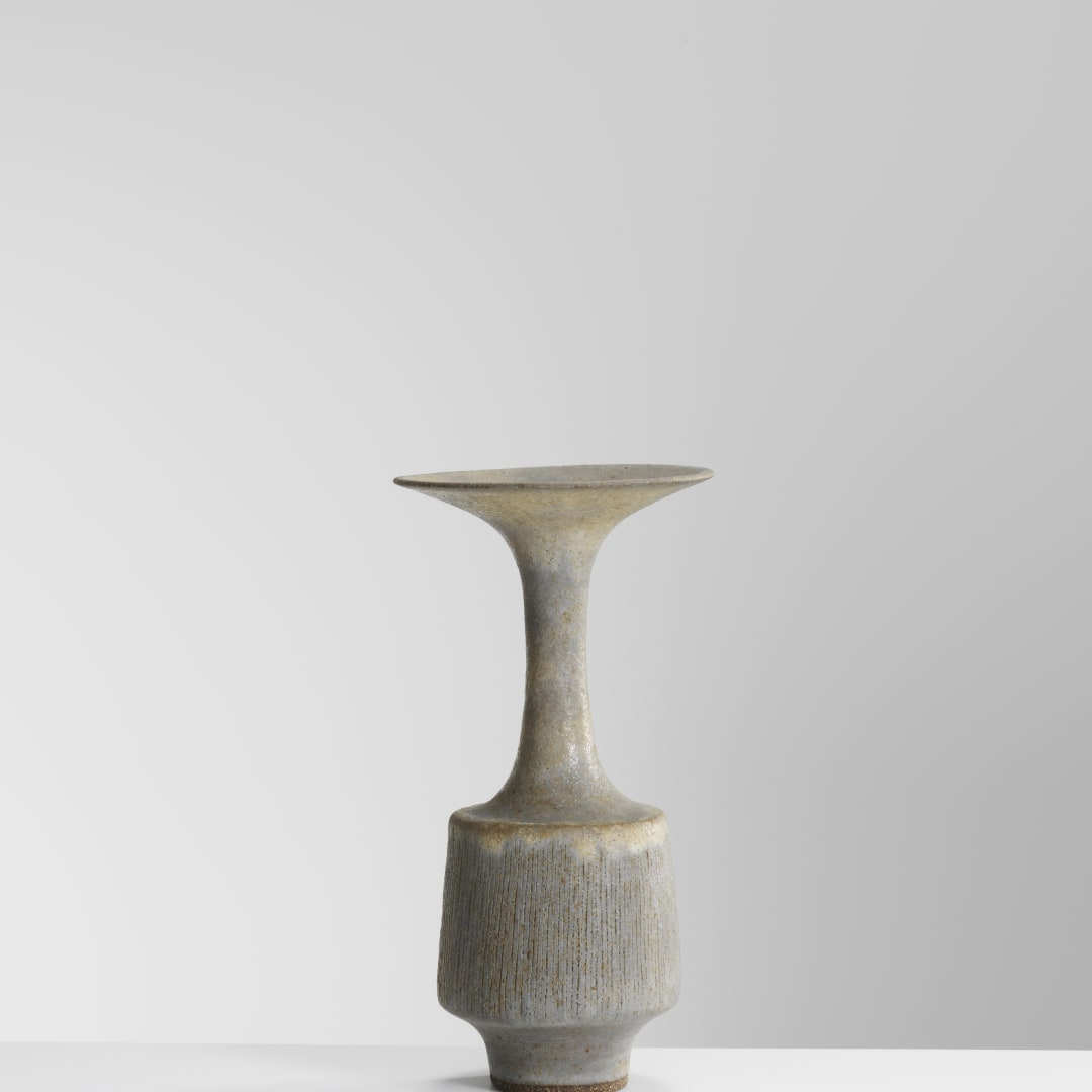 Lucie Rie, Bottle Vase with Flared Neck, 1972