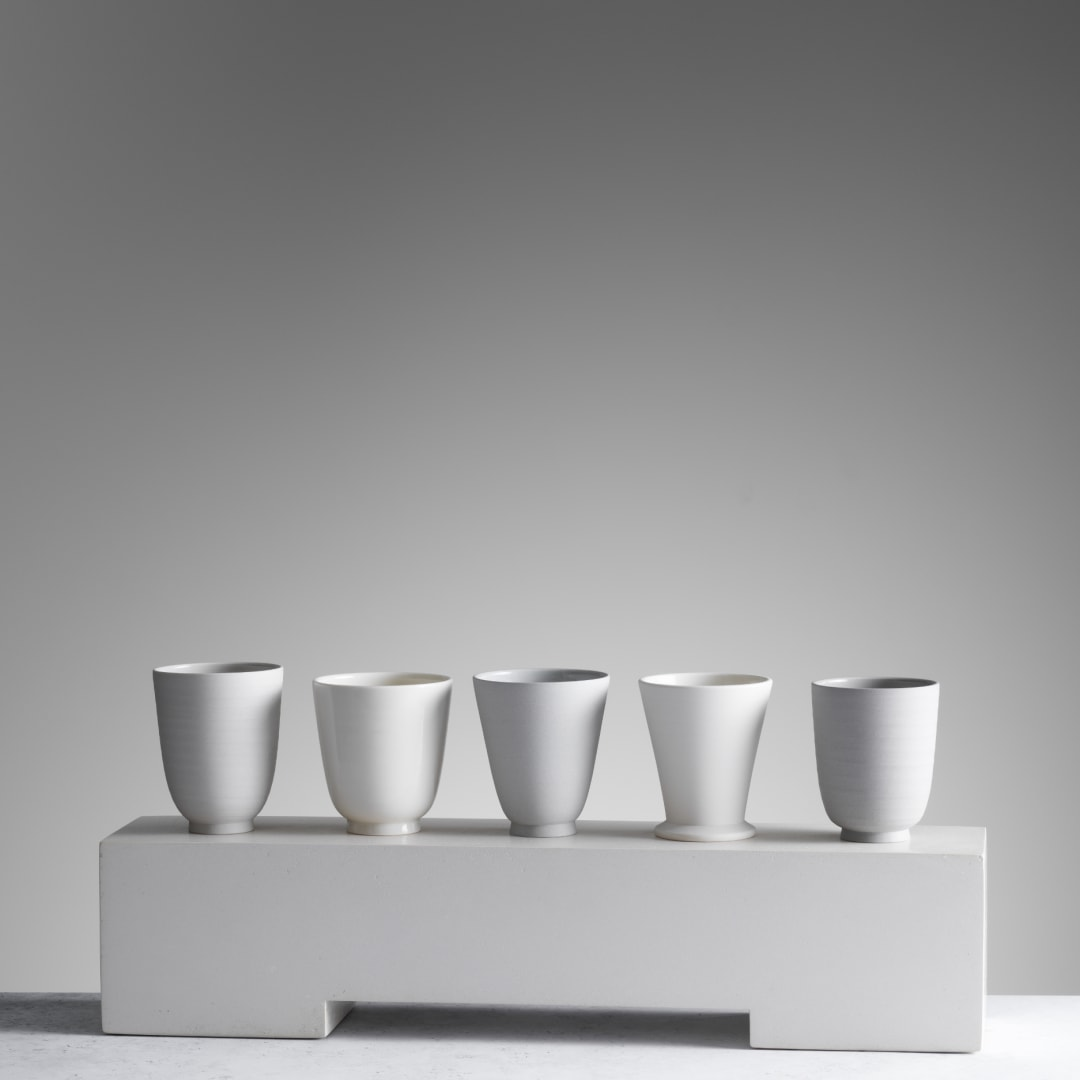 Julian Stair, Five Cups on a Ground