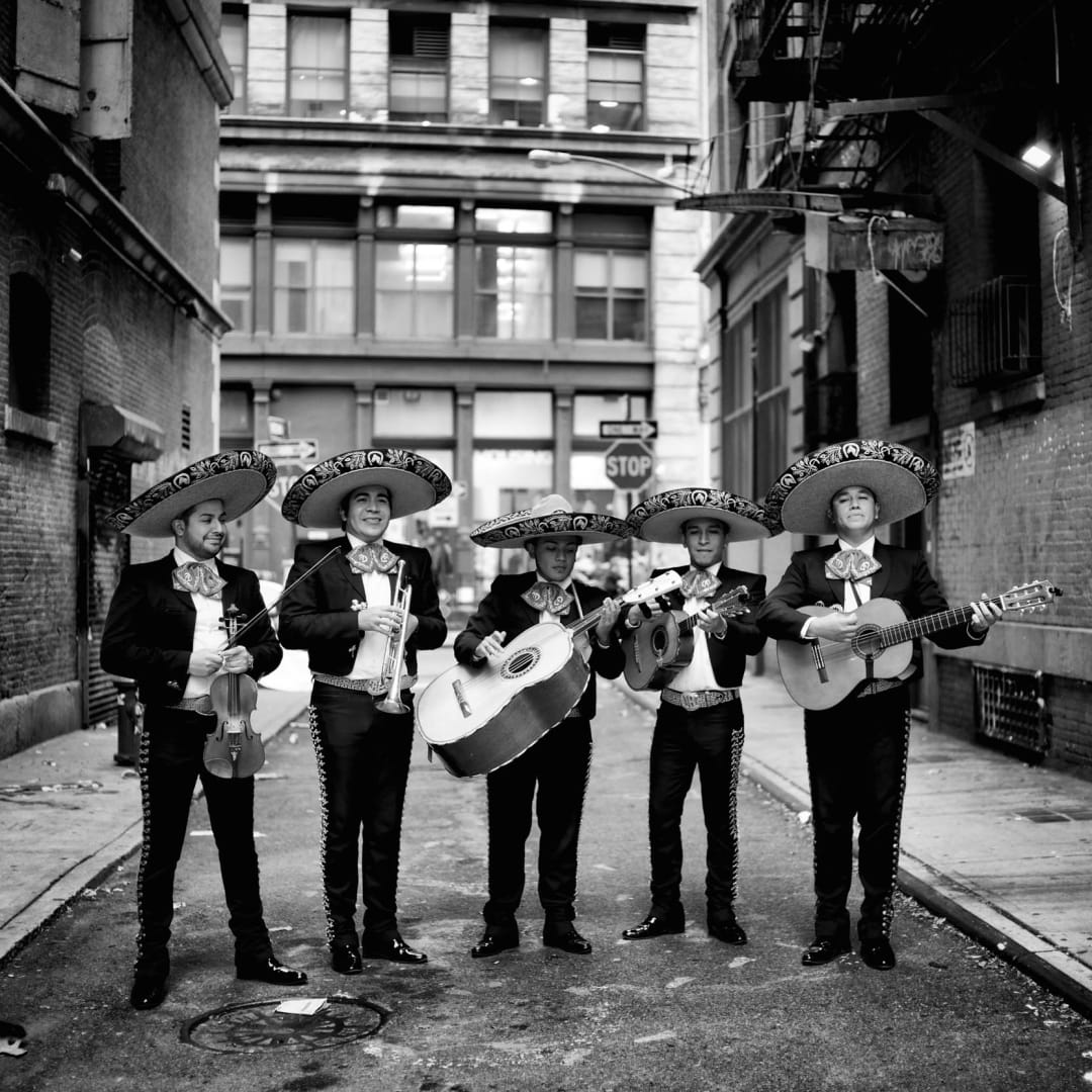 PHIL PENMAN, Mariachi Band in Soho, New York, 2014