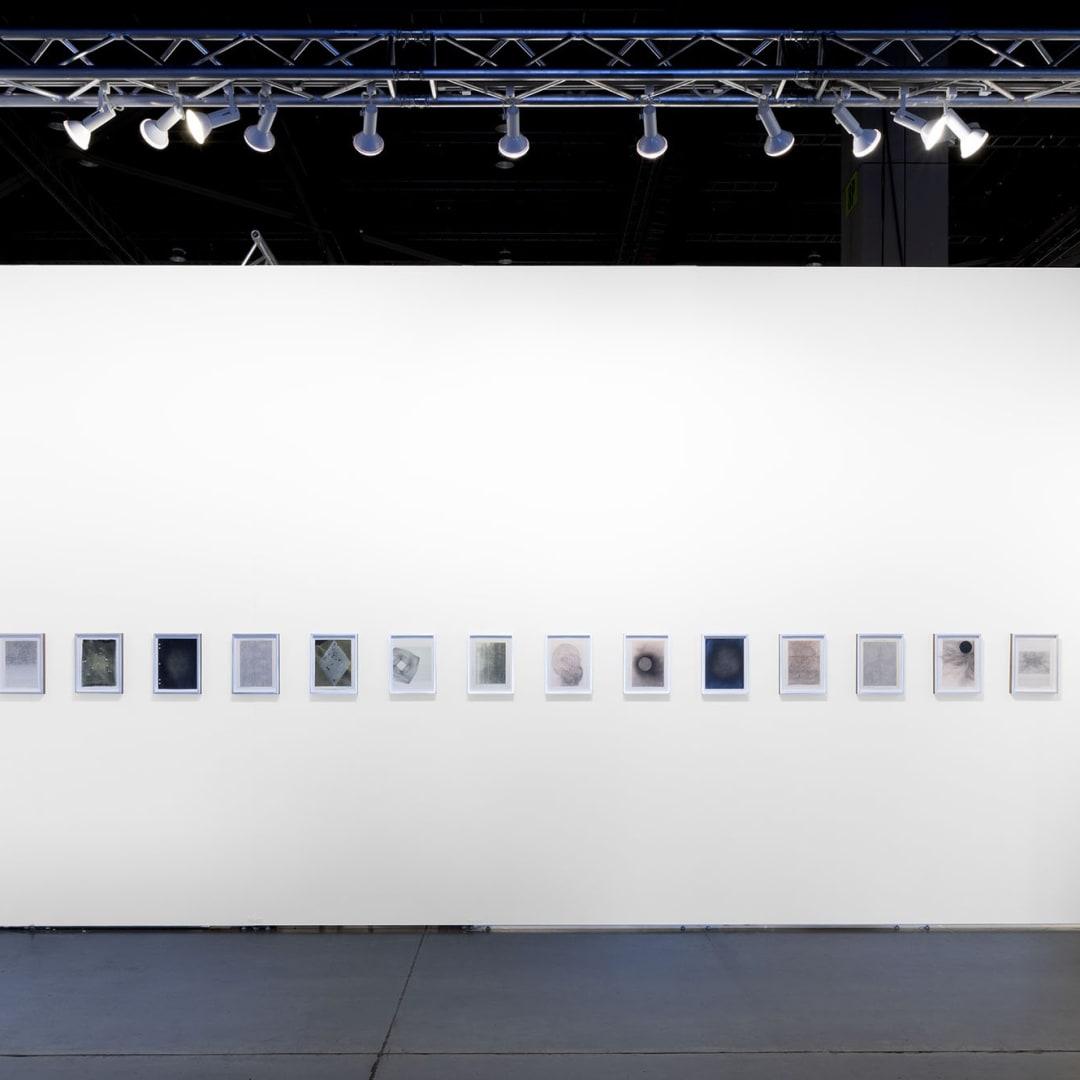 Installation view of Jason Haam's booth at Seattle Art Fair, 2019