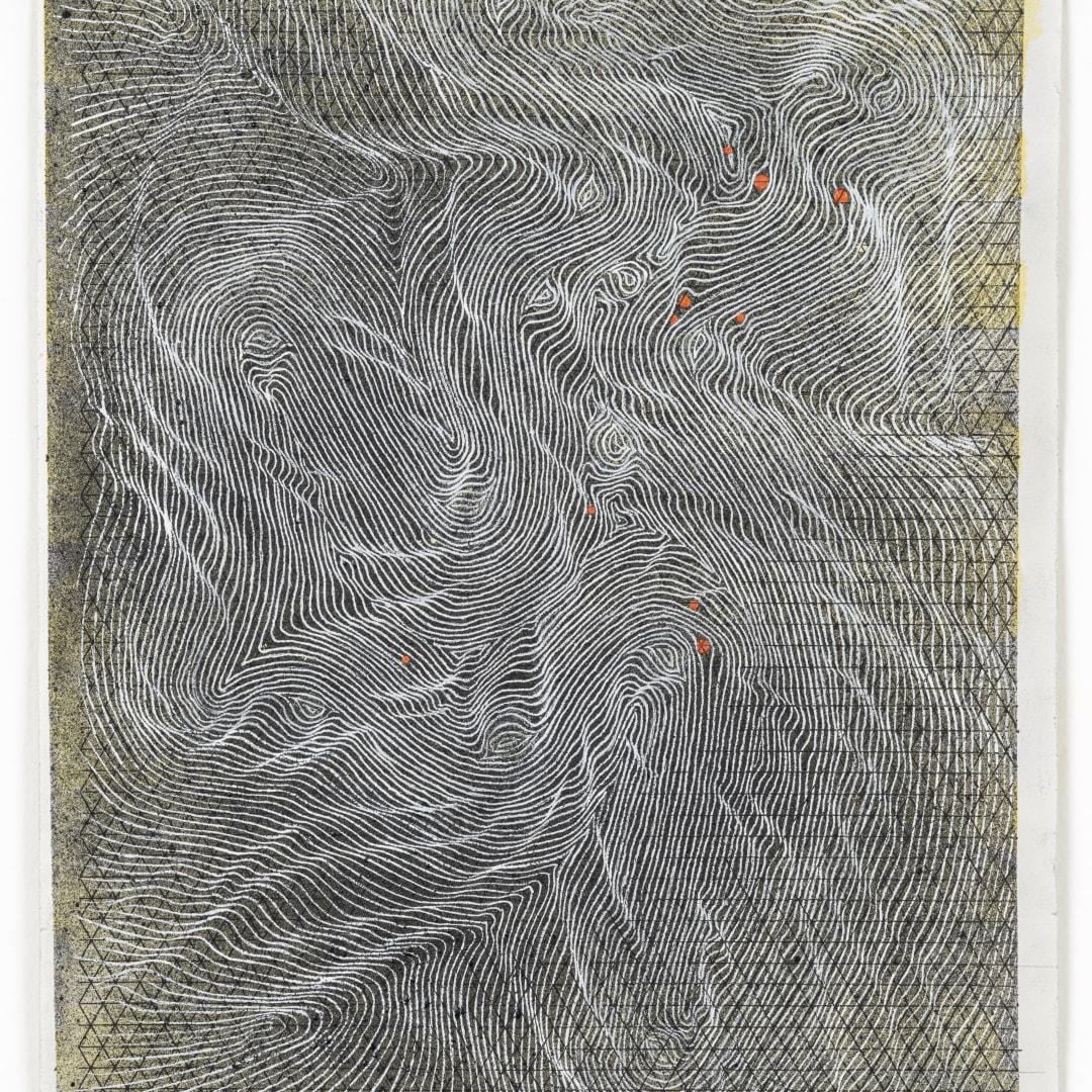 Linn Meyers, 'Untitled', 2021, Ink on graph paper, 11 x 8.5 in, © Linn Meyers