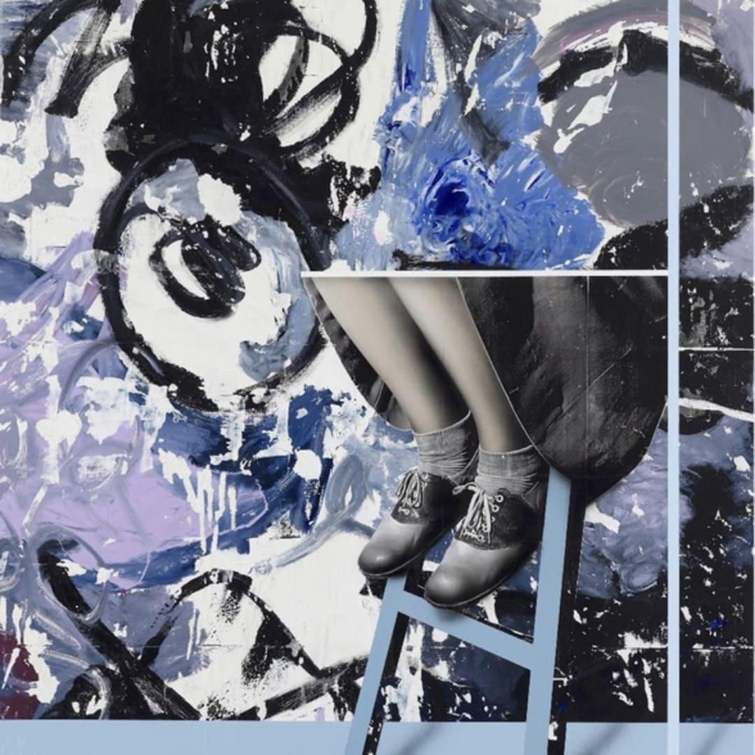 Mircea Suciu, 'The Wreck [2]', 2019 Oil, Acrylic, monoprint on linen 180 x 160 cm, © Mircea Suciu, image courtey of Slag Contemporary