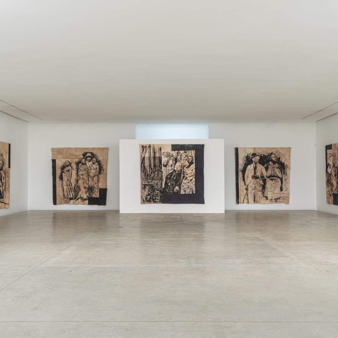 Vue de la galerie à Abidjan, 2020