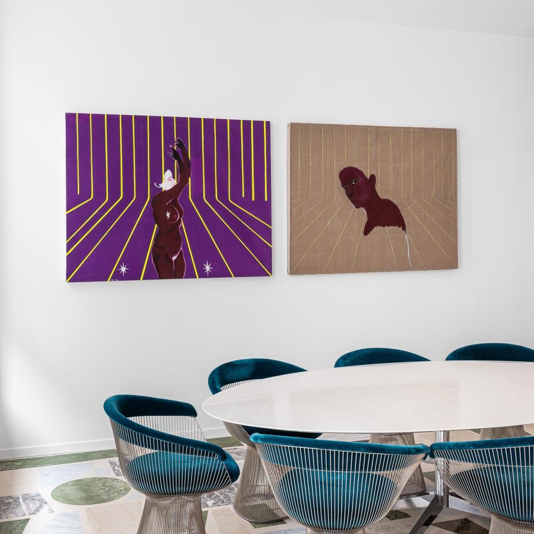 Vue du showroom de galerie à Paris, 2020