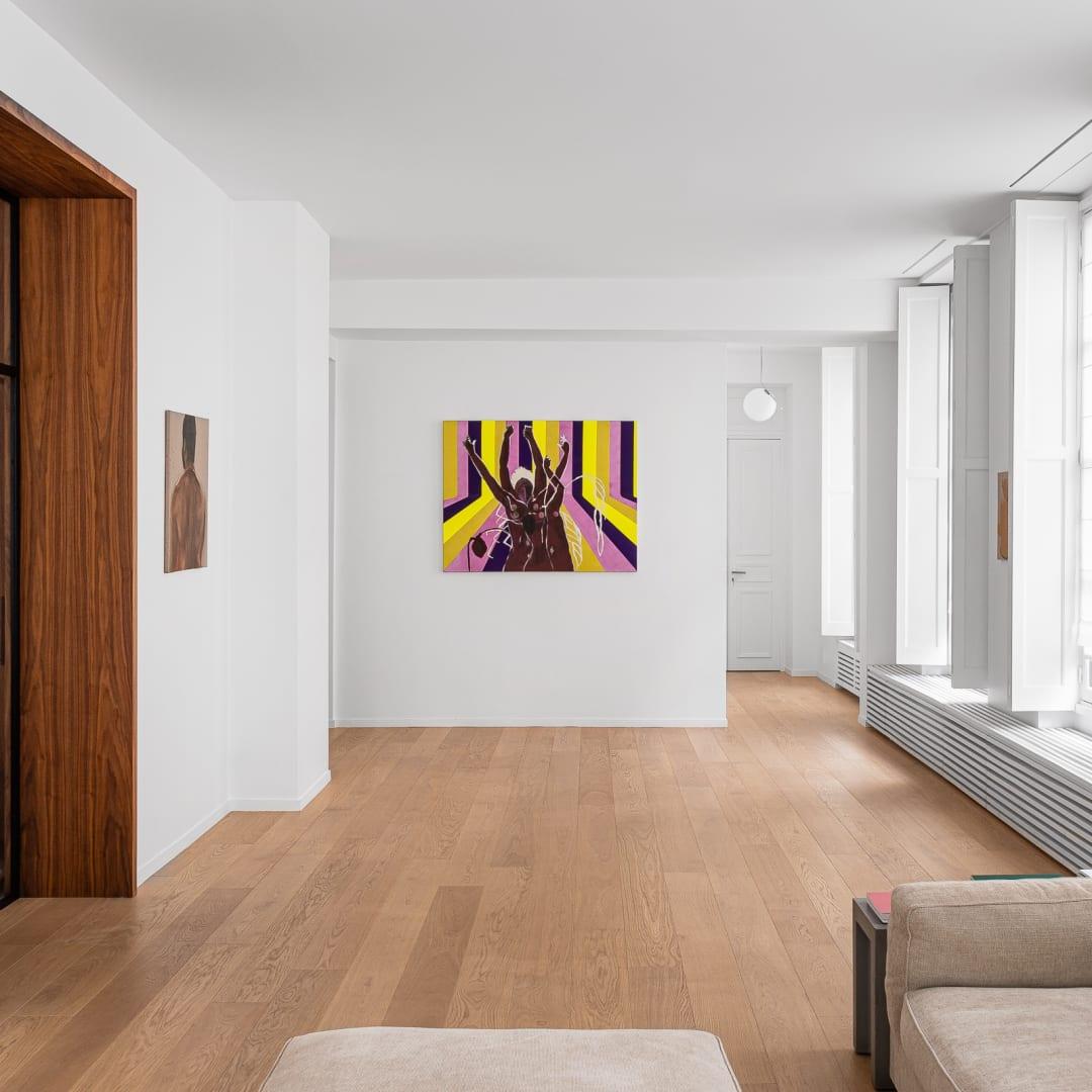 Vue du showroom de la galerie à Paris, 2020