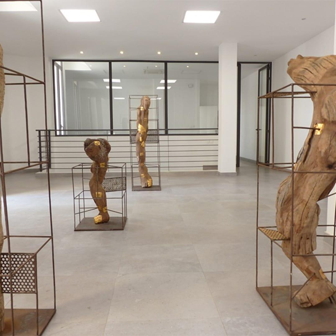 Vue de la galerie à Dakar, 2018