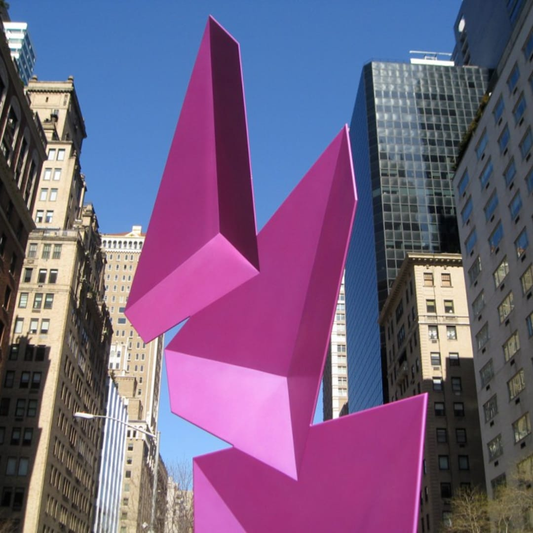 "Above, below and top of page: ""Triphasique,"" 2011 (handmade steel and acrylic lacquer)."