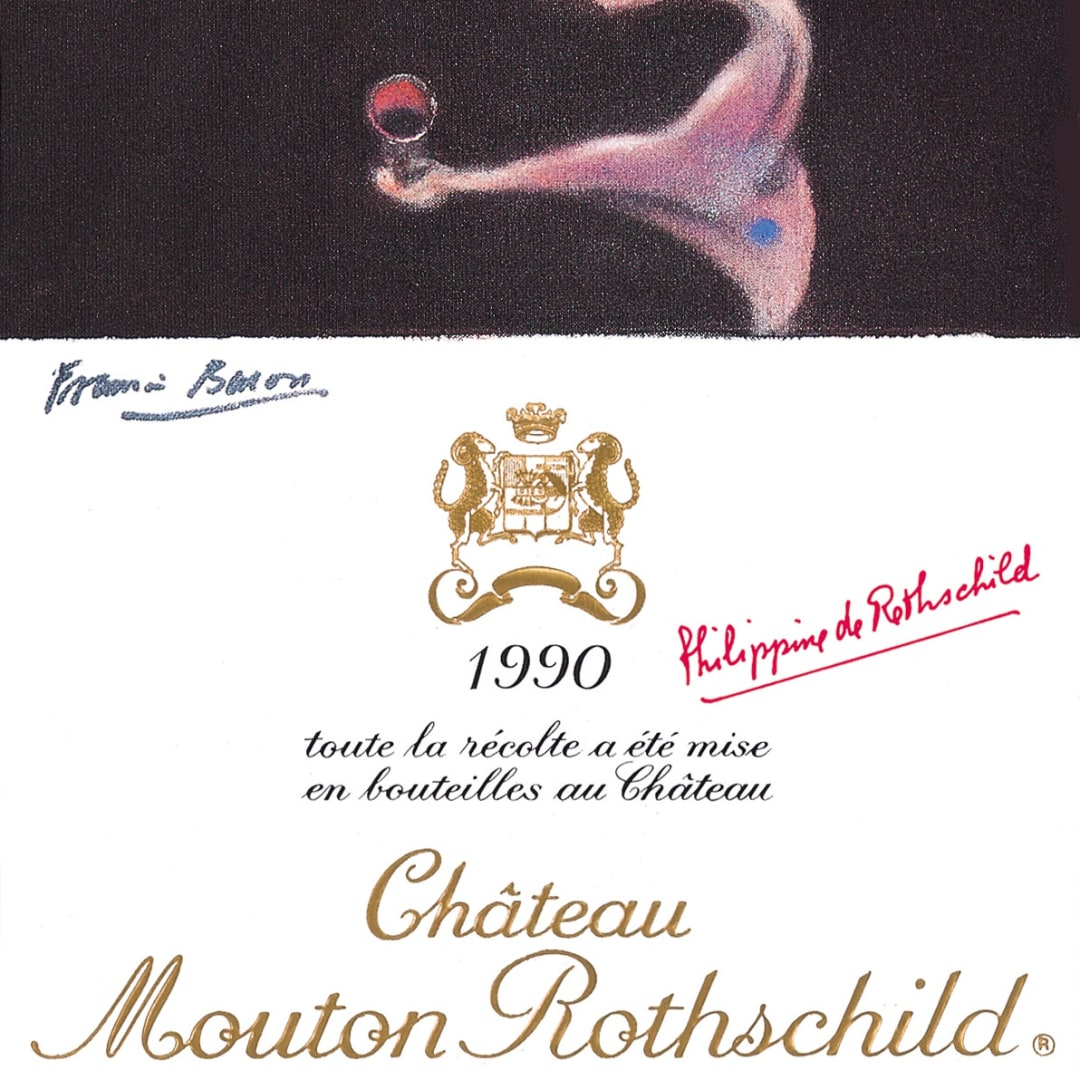 Francis Bacon, Château Mouton Rothschild Poster, 1990