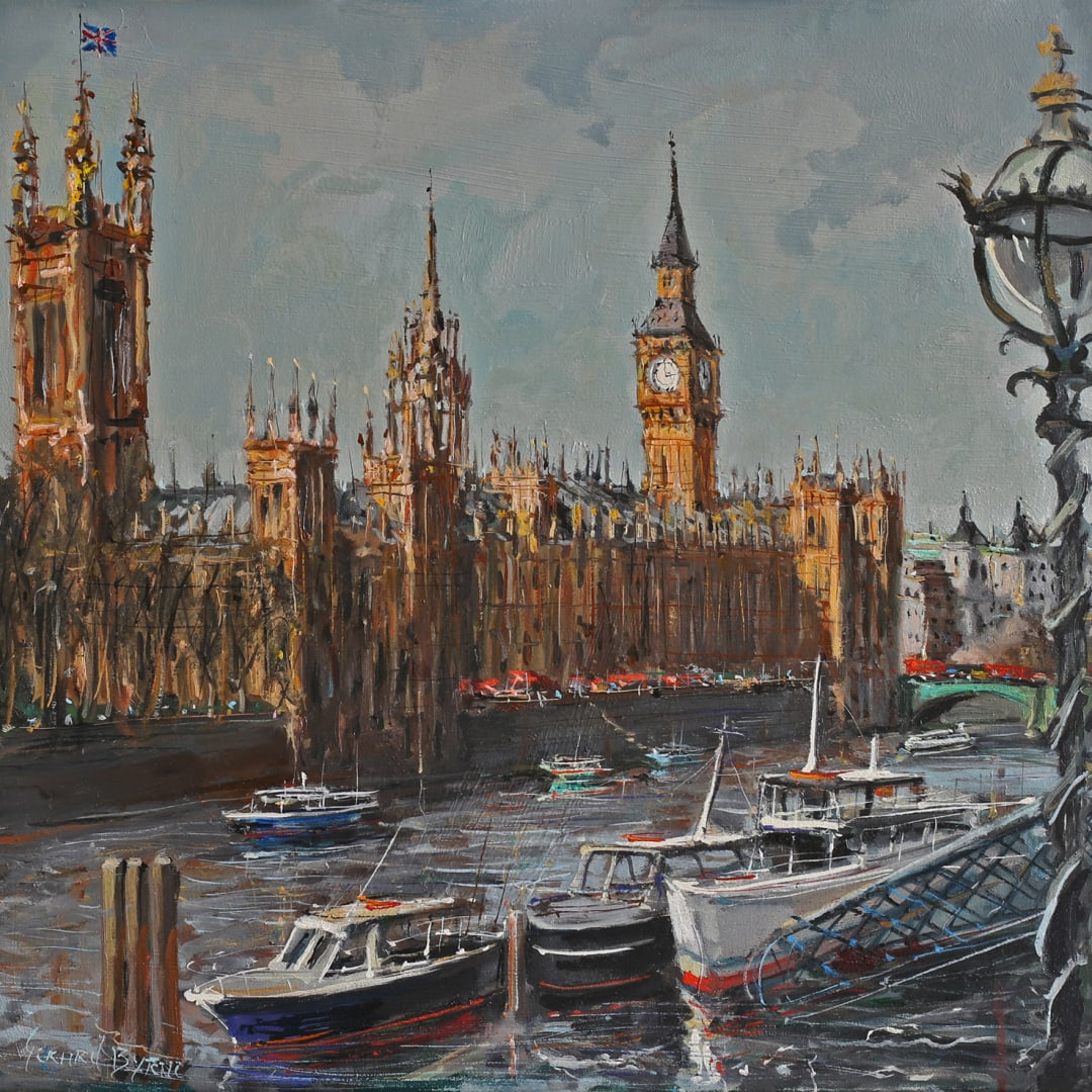 Postcard from London' oil on canvas 100x50cm