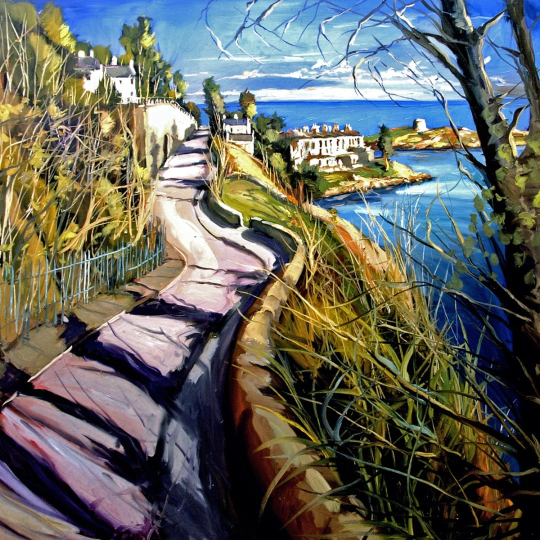 Postcard from Dalkey' oil on canvas by Gerard Byrne, 2007