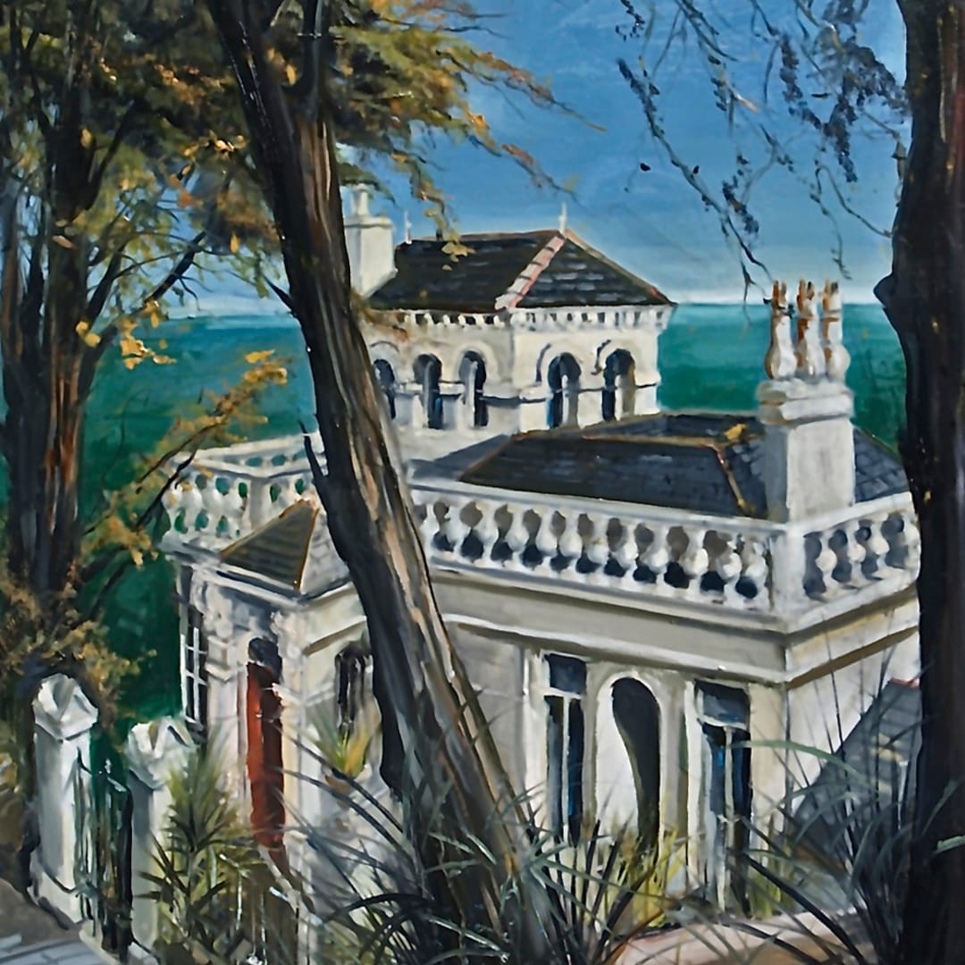 'Strawberry Hill House' oil on canvas by Gerard Byrne, 2015